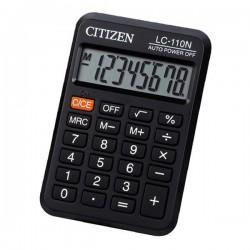 Citizen Kalkulačka LC110NR, čierna, vrecková, osemmiestna