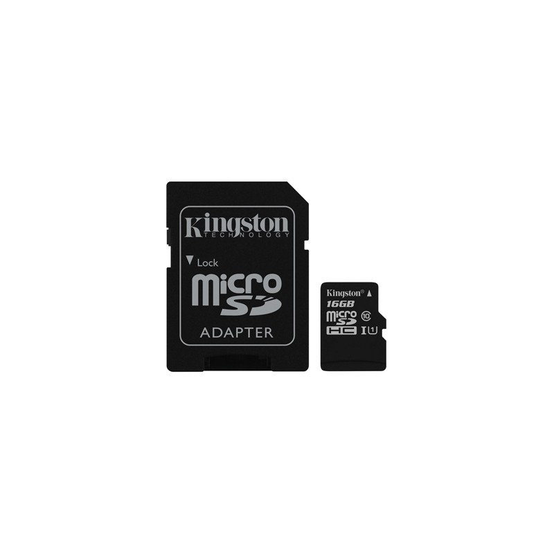Kingston Micro SDHC Card 16GB Class10 UHS-I SDC10G2/16GB