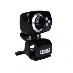 4World Internetová kamera 2 Mpx USB 2.0 s LED podsvietením + mikrofon, univerz 10133