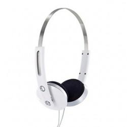 4World Stereofonické slúchadlá, s pohodlnými náušníky, 1.5m, biely 08248