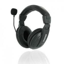 4World Stereofonické slúchadlá, s mikrofón s pohodlnými náušníky, 3 m 04165