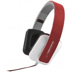 Esperanza EH137R JAZZ Stereo slúchadlá, skladacie, ovl. hlasitosti, 3m, červené EH137R - 5901299903698