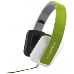 Esperanza EH137G JAZZ Stereo slúchadlá, skladacie, ovl. hlasitosti, 3m, zelené EH137G - 5901299903674