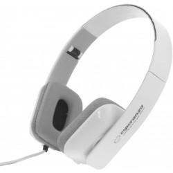 Esperanza EH143W ARUBA Stereo slúchadlá, skladacie, ovl. hlasitosti, 3m, biele EH143W - 5901299903872