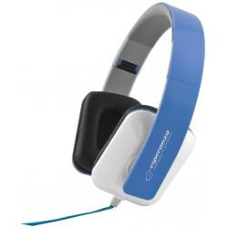 Esperanza EH137B JAZZ Stereo slúchadlá, skladacie, ovl. hlasitosti, 3m, modré EH137B - 5901299903681