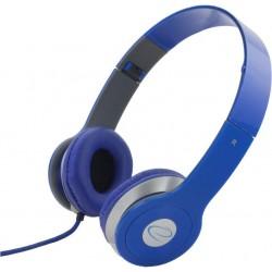 Esperanza EH145B TECHNO Stereo slúchadlá, skladacie, ovl. hlasitosti, 3m, modré EH145B - 5901299903933