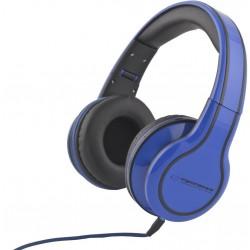 Esperanza EH136B BLUES Stereo slúchadlá, skladacie, ovl. hlasitosti, 3m, modré EH136B - 5901299903650