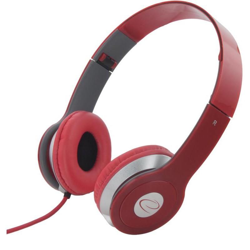 Esperanza EH145R TECHNO Stereo slúchadlá, skladacie, ovl. hlasitosti, 3m,červené EH145R - 5901299903940