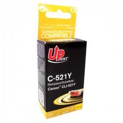 UPrint kompatibil. ink s CLI521Y, yellow, 510str., 10ml, C-521Y, s...