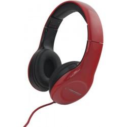 Esperanza EH138R SOUL Stereo slúchadlá, skladacie, ovl. hlasitosti, 3m, červené EH138R - 5901299903766