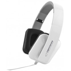 Esperanza EH137W JAZZ Stereo slúchadlá, skladacie, ovl. hlasitosti, 3m, biele EH137W - 5901299903711