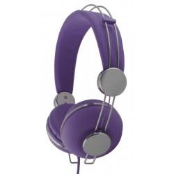 Esperanza EH149V MACAU Stereo slúchadlá, ovl. hlasitosti, 3m, fialové EH149V - 5901299908068