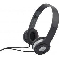 Esperanza EH145K TECHNO Stereo slúchadlá, skladacie, ovl. hlasitosti, 3m, čierne EH145K - 5901299903919
