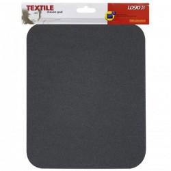 Podložka pod myš, mäkká, čierna, 24x22x0,3 cm, Logo 50150