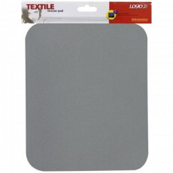 Podložka pod myš, mäkká, šedá, 24x22x0,3 cm, Logo 50101