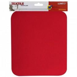Podložka pod myš, mäkká, červená, 24x22x0,3 cm, Logo 50110