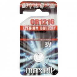 Batéria líthiová, gombíková, CR1216, 3V, Maxell, blister, 1-pack CR...