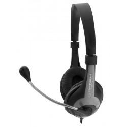 Esperanza EH158K ROOSTER Stereo slúchadlá s mikrofónom, ovl. hlasitosti, čierne EH158K - 5901299908723