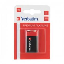 Batéria alkalická, R61, 9V, Verbatim, blister, 1-pack, 49924