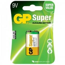 Batéria alkalická, R61, 9V, GP, blister, 1-pack, SUPER GP 1604A