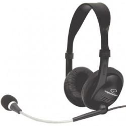 Esperanza EH115 PRESTO Stereo slúchadlá s mikrofónom, ovl. hlasitosti, čierne EH115 - 5905784767987