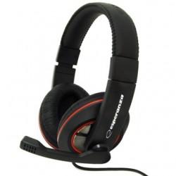 Esperanza EH118 SONATA Stereo slúchadlá s mikrofónom, ovl. hlasitosti, čierne EH118 - 5905784768373