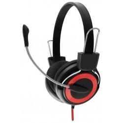 Esperanza EH152R FALCON Stereo slúchadlá s mikrofónom, ovl. hlasitosti, červené EH152R - 5901299908556