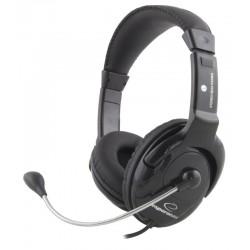 Esperanza EH101 MANUET Stereo slúchadlá s mikrofónom, ovl. hlasitosti, čierne EH101 - 5905784767840