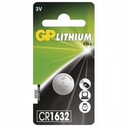 Batéria líthiová, gombíková, CR1632, 3V, GP, blister, 1-pack B15951