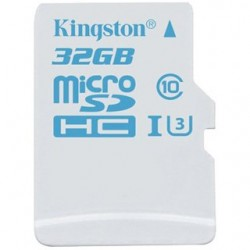 Kingston Micro SDHC Card 32GB Class10 UHS-I U3 SDCAC/32GBSP