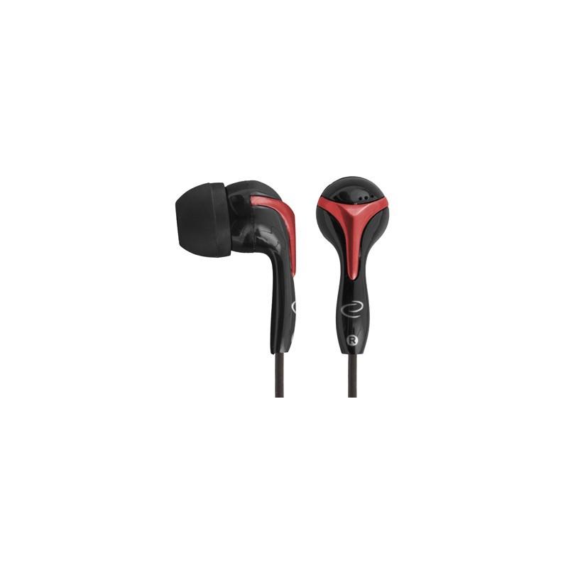 Esperanza EH123 Stereo slúchadlá do uší, červeno-čierne EH123 - 5905784769349