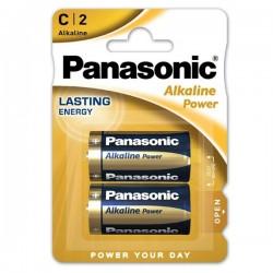 Batéria alkalická, malý monočlánok, C, 1.5V, Panasonic, blister,...