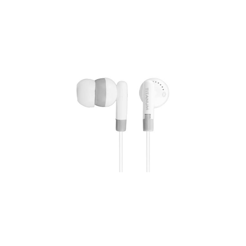 Titanum TH103 Stereo slúchadlá do uší, bielo-šedé TH103 - 5905784769332