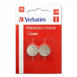 Batéria líthiová, CR2025, 3V, Verbatim, blister, 2-pack, 49935