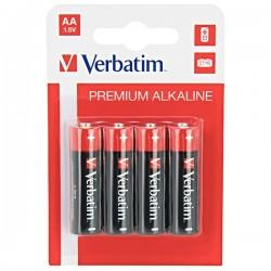 Batéria alkalická, AA, 1.5V, Verbatim, blister, 4-pack, 49921