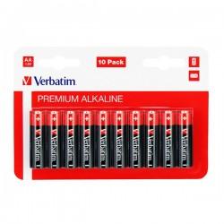 Batéria alkalická, AA, 1.5V, Verbatim, blister, 10-pack, 49875