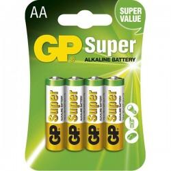 Batéria alkalická, AA, 1.5V, GP, blister, 4-pack, SUPER B1321