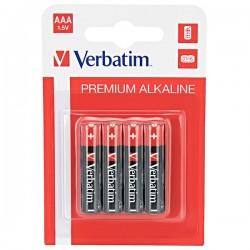Batéria alkalická, AAA, 1.5V, Verbatim, blister, 4-pack, 49920
