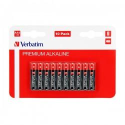 Batéria alkalická, AAA, 1.5V, Verbatim, blister, 10-pack, 49874