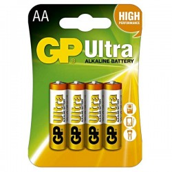 Batéria alkalická, AA, 1.5V, GP, blister, 4-pack, ULTRA B1921