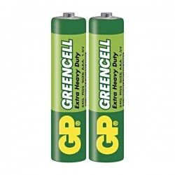 Batéria zinkochloridová, AAA, 1.5V, GP, fólia, 2-pack B1210