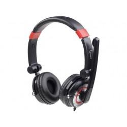 Gembird stereo slúchadlá 5.1 s mikrofónom a reguláciou hlasitosti,čierno-červene MHS-5.1-001