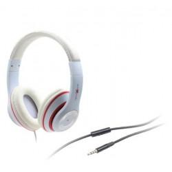 Gembird stereo slúchadlá s mikrofónom Los Angeles s ovládaním hlasitosti, biele MHS-LAX-W