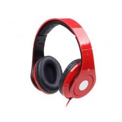 Gembird stereo slúchadlá, DETROIT, Mini Jack, červené, 1.5m MHS-DTW-R
