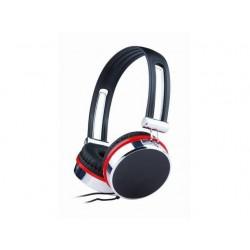 Gembird stereo slúchadlá, čierno-strieborno-červené MHP-903
