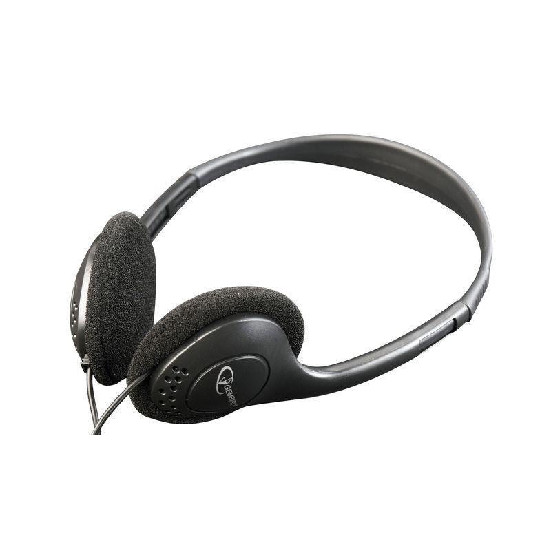 Gembird stereo slúchadlá s reguláciou hlasitosti, čierna MHP-123