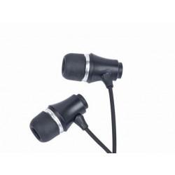 Gembird Stereo slúchadlá MP3, pozlátený 3.5mm Jack, kov, čierna farba MP3-EP01B