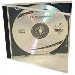 Box na 1 ks CD, priehľadný, čierny tray, Logo, 10,4 mm, 2-pack 42104