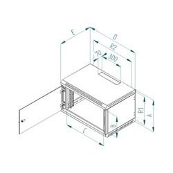 Nástěnný rozvaděč jednodílný 12U/395mm plech.dveře RBA-12-CS4-CAX-A1