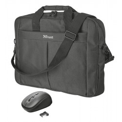 """set TRUST Primo 16"""" Bag with wireless mouse 21685"""